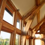 Lounge lighting with wooden beams 04 by Sam Coles Lighting
