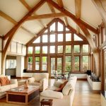 Lounge lighting with wooden beams 01 by Sam Coles Lighting