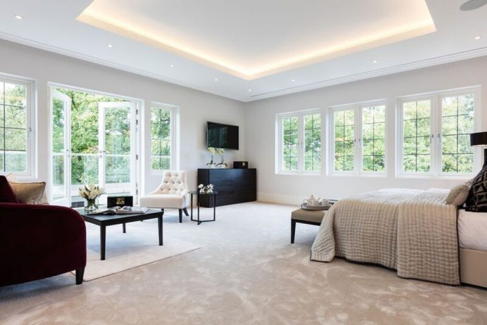 Bedroom with lighting by Sam Coles Lighting
