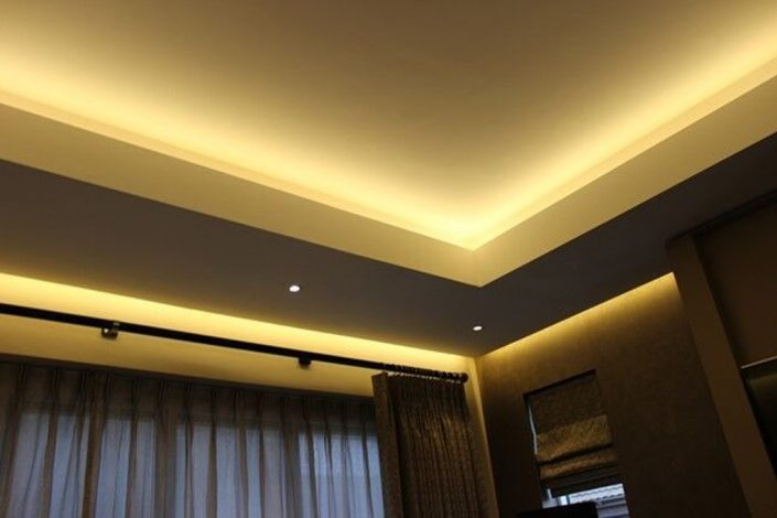 Illuminated coffer ceiling