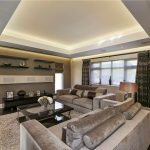 Lounge with coffer ceiling