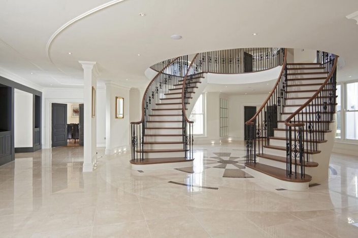 Large double stairway
