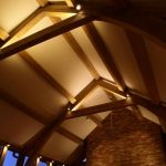 Lounge lighting with wooden beams by Sam Coles Lighting 08