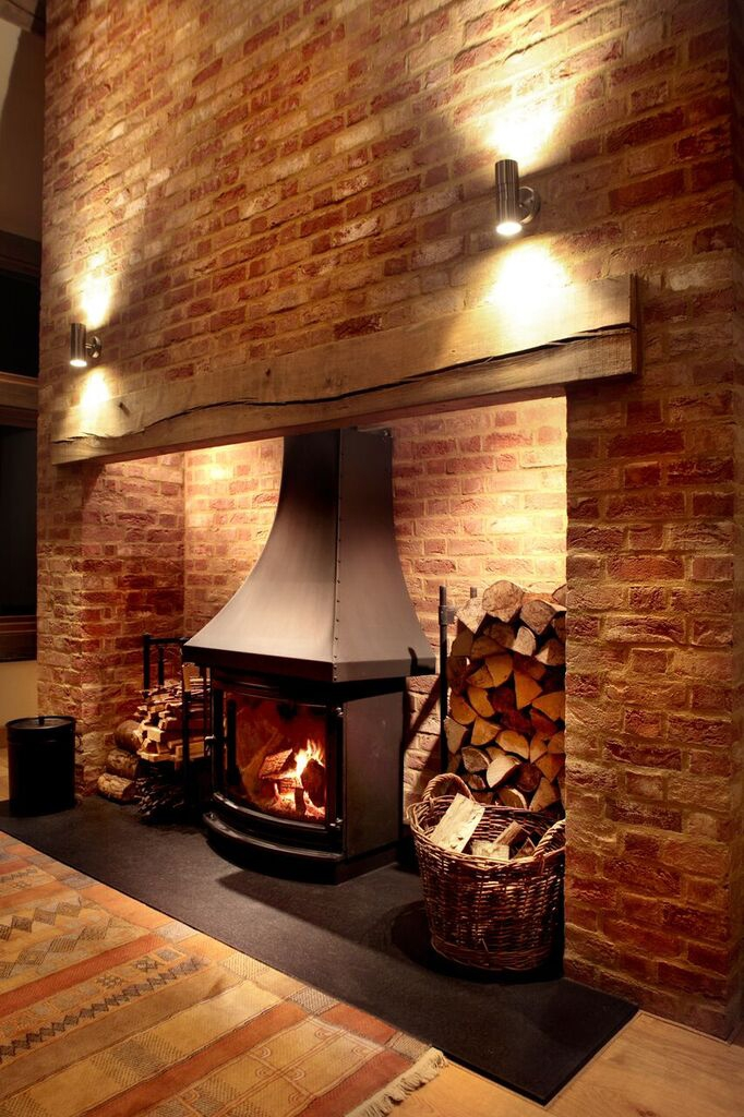 Fireplace lighting by Sam Coles Lighting