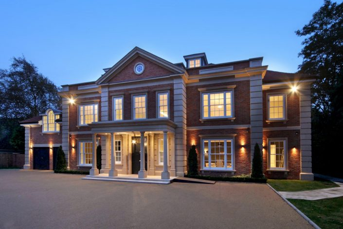 Front facade Mansion lighting