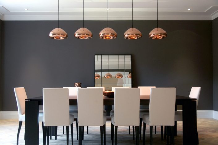 Beautiful lights over Dining Room table